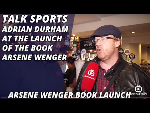Talk Sports Adrian Durham at the Launch of The Book Arsene Wenger!!