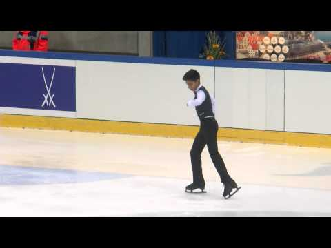 ISU 2014 Jr Grand Prix Dresden Men Short Program Donovan CARRILLO MEX