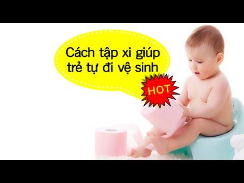Làm mẹ - Cách tập xi cho trẻ tự đi vệ sinh [GiupMe.com]