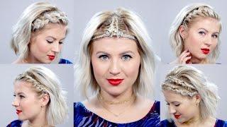5 Braided Headbands For Short Hair Tutorial | Milabu