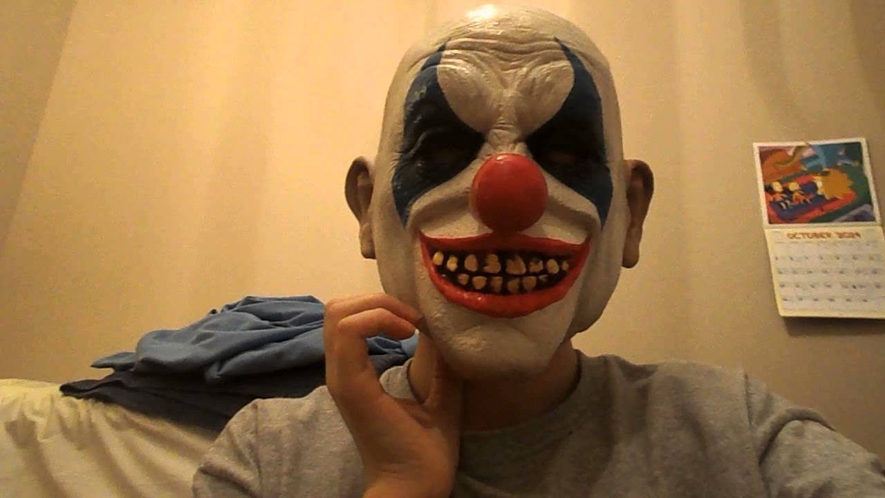 MASK REVIEWS:Clown mask from party city and frankinstein mask ...