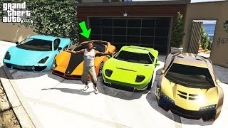 GTA 5 - Stealing Luxury Cars with Franklin! (Real Life Cars)