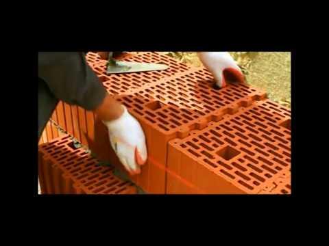 Строительство дома из кирпича и поризованных блоков BRAER