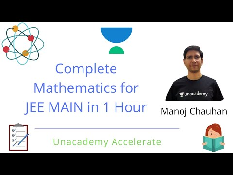 Complete Mathematics for JEE Mains in 1 Hour | Manoj Chauhan | Unacademy Accelerate