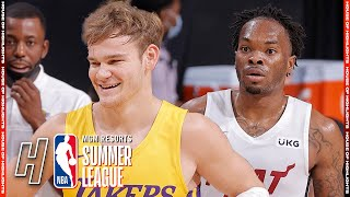 Miami Heat vs Los Angeles Lakers - Full Game Highlights | August 3, 2021 NBA Summer League