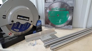Evolution Tools Metal Dry Cut Saw, Steel and Aluminum Blade Comparison