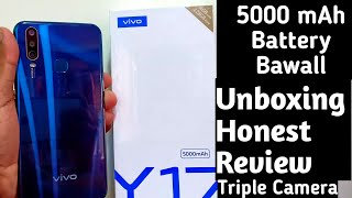 Vivo Y17 - Unboxing & First Look, Review | 5000 mAh Battery | Triple Rear Camera  & Many More
