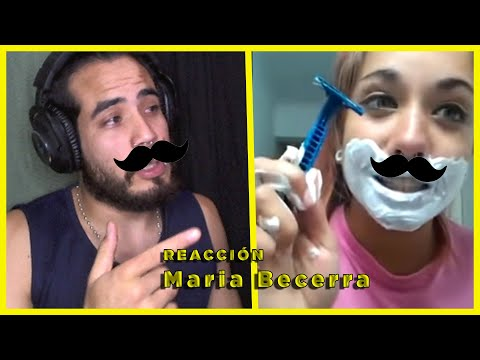 Como Afeitarse El Bigote// Reaccionando A María Becerra- Manuxpher