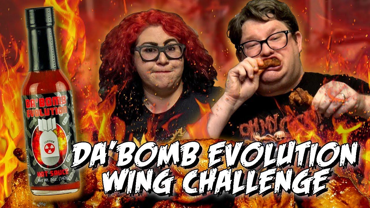 DA' BOMB EVOLUTION WING CHALLENGE *Hottest DA'BOMB Sauce yet?!*