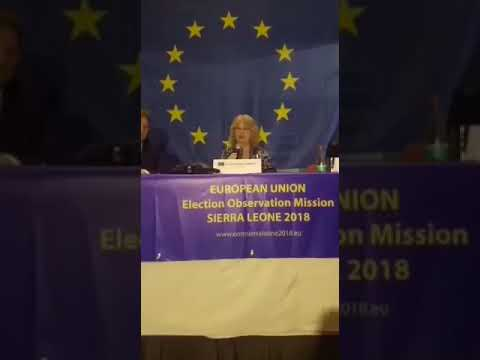 EU Freetown press conference