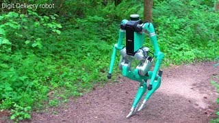 Zapętlaj Digit Delivery Humanoid Robot By Fords With Agility Robotics - Will Change The World.   Inventions World
