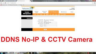 configure ddns no ip and port forwarding cctv camera on modem zte indihome