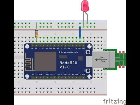 ESP8266 ESP-12E NodeMCU Customized Firmware Flashing And Getting Started With LED Blink