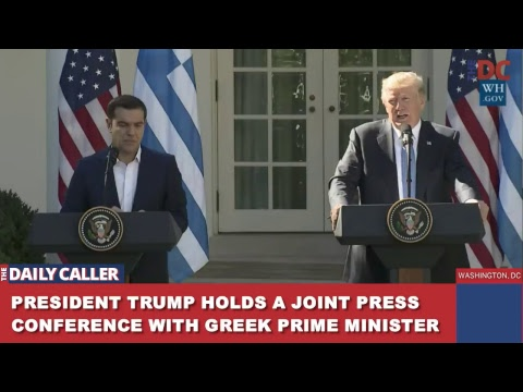 President Trump Holds Joint Press Conference With Greek Prime Minister