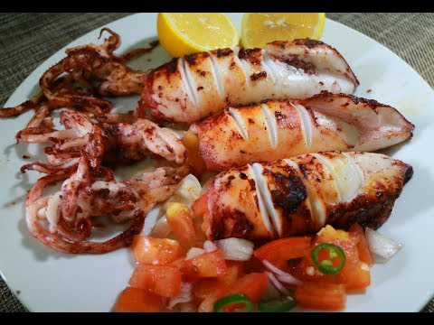 Easy Grilled Stuffed Squid Recipe | Inihaw Na Pusit