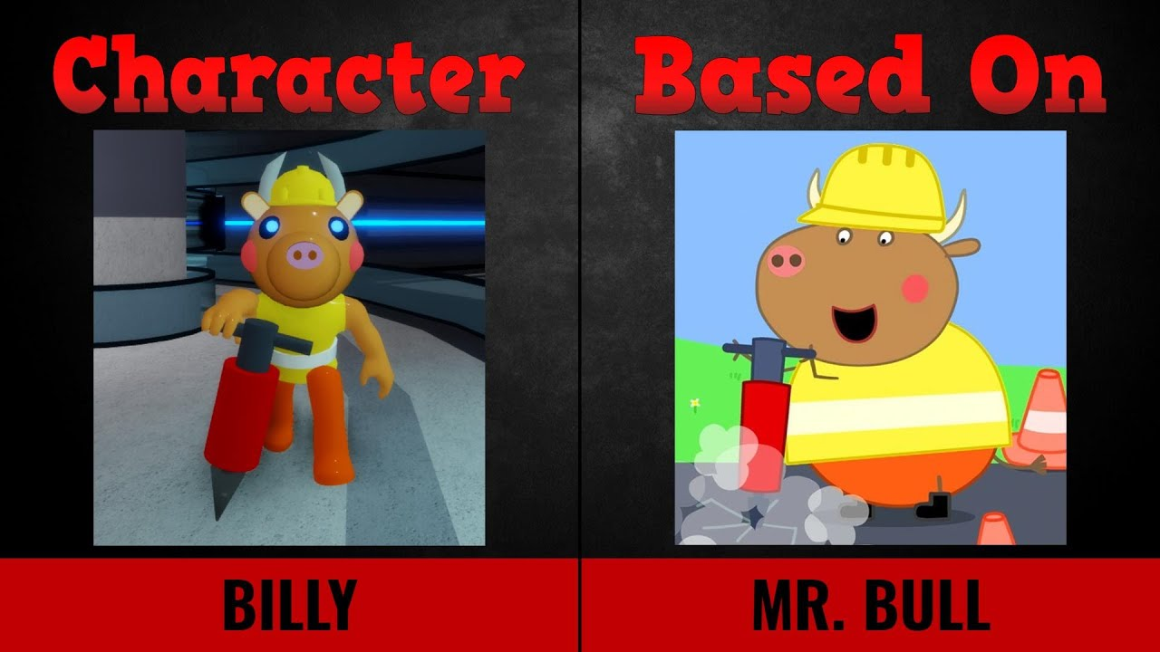 Piggy Roblox Characters Cute Piggy Skins Vs Peppa Pig Characters Updated Chapter 12 Youtube