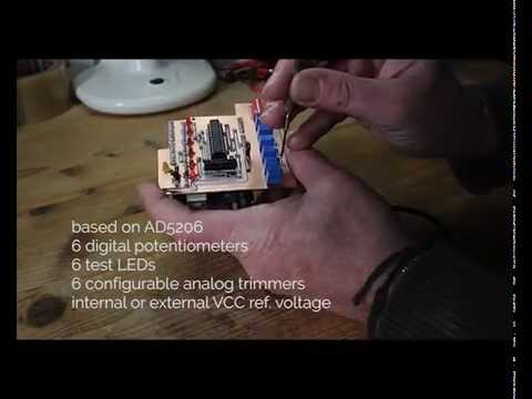 digital potentiometer arduino shield youtube. Black Bedroom Furniture Sets. Home Design Ideas