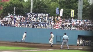 2013年7月17日(水)東京都 高校野球 応援 応援歌 ブラスバンド ブラバ...