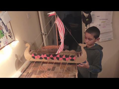 Making a Viking longboat - Primary school year 6 History project