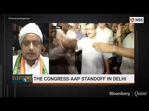 Shashi Tharoor On Congress-AAP Standoff In Delhi