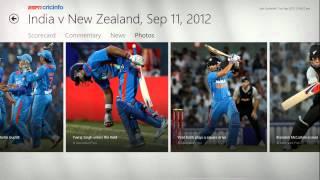 ESPN Cricinfo.com on Windows 8