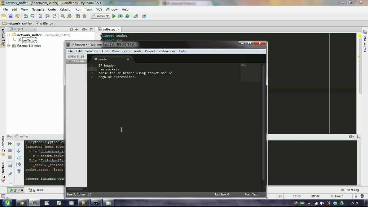 [Python] Simple network Sniffer - Part 1