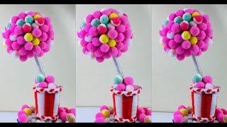 Pom Pom Crafts | Pom Pom | Showpiece Making | Pom Pom Making