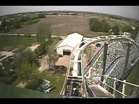 The Dragon Looping Roller Coaster Front Seat POV Adventureland Des Moines Iowa