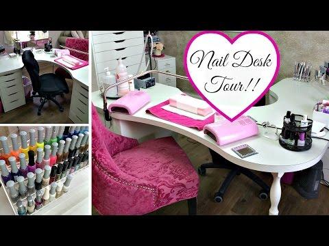 Nail Desk Tour!!