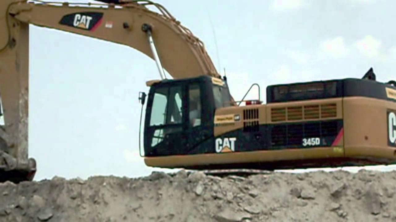 Video Of A Cat  Excavator Working