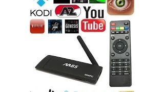 M85 Smart set TV Box / Μετατροπή TV σε SMART, Android 4.4, Quad-Core, WiFi, Kodi 1080P XBMC