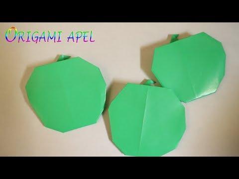 Cara membuat origami buah apel mudah untuk anak