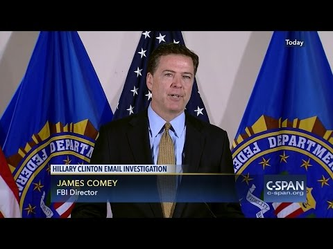 FBI Director James Comey FULL STATEMENT on Hillary Clinton Email Investigation (C-SPAN)