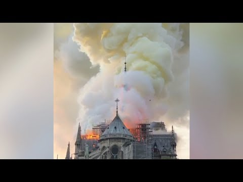 Notre-Dame Fire: Historic Paris Cathedral Burns In Flames