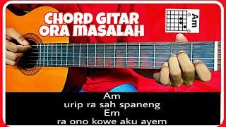 Kunci gitar (ORA MASALAH-GUYON WATON) genjrengan