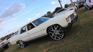 "4 Door Impala Donk 30"" Lexani Wheels - Orlando Classics Ridin Big Car Show 2014"