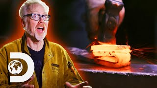 Adam Savage Forges A Sword Out Of An Iron Meteorite | Savage Builds