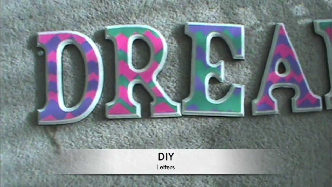 diy chevron painted letters