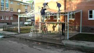навесы из поликарбоната в коттеджном поселке  Одинцово(, 2011-02-18T17:37:43.000Z)