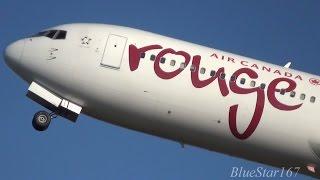 [Welcome Back] Air Canada Rouge Boeing 767-300ER (C-FMWU) takeoff from KIX/RJBB (Osaka - Kansai) 06R