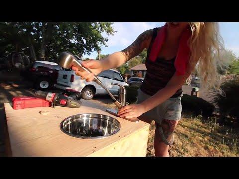 Custom Van Sink with Electric Pump Pt. 1
