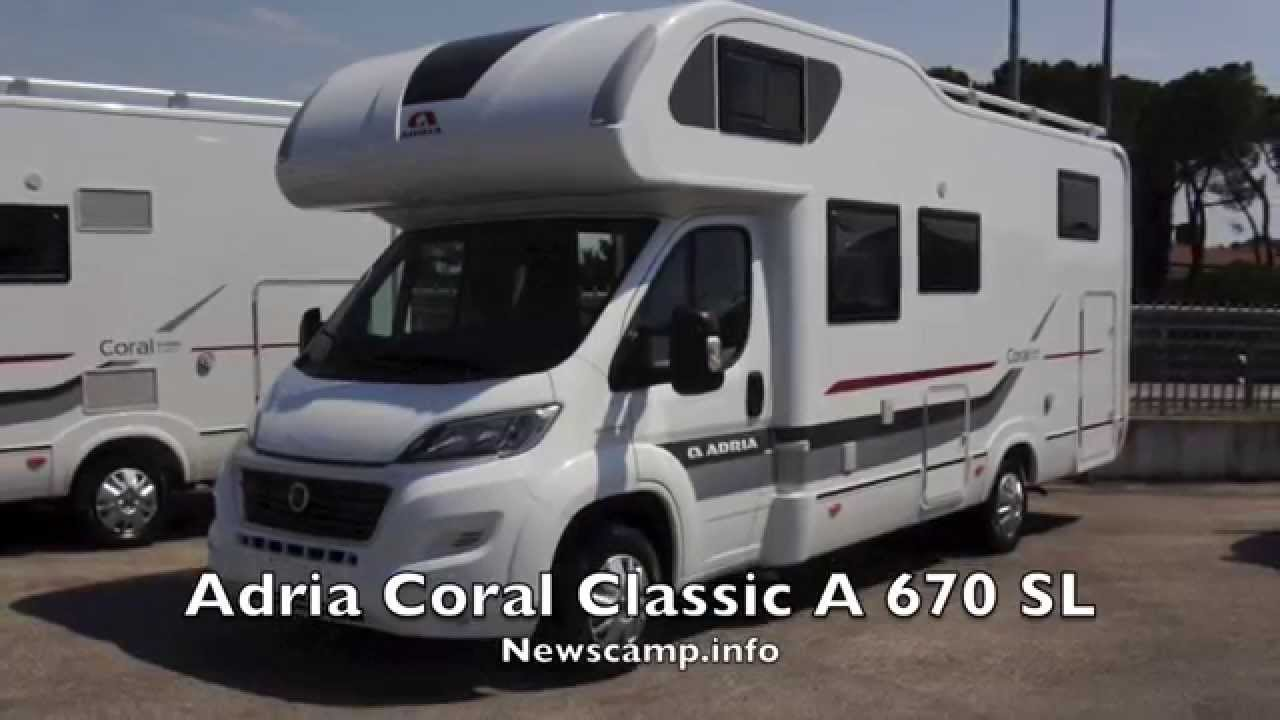 adria coral classic a 670 sl 2015 youtube. Black Bedroom Furniture Sets. Home Design Ideas