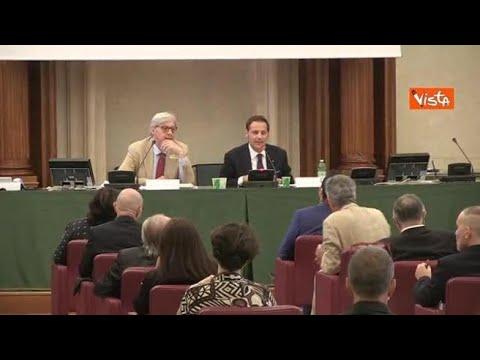 Anche i relatori senza mascherina sul palco del convegno sul Covid al Senato