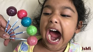 Happy Funny Toddler Ishfi's Color Song with Little Sister