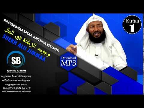Shekh Ali Jimmaa, Zakah Part 1