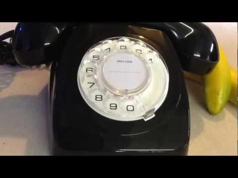 VINTAGE BLACK RETRO ROTARY DIAL TELEPHONE AUSTRALIA