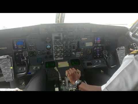 Capt jazar b737 landing Khartoum