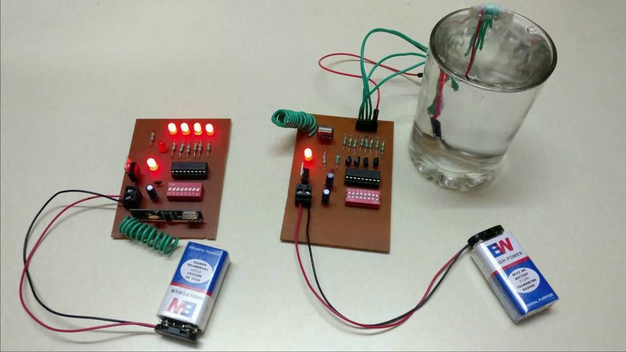 Wireless Water Level Indicator Without Microcontroller Youtube Sensor Wiring Diagram