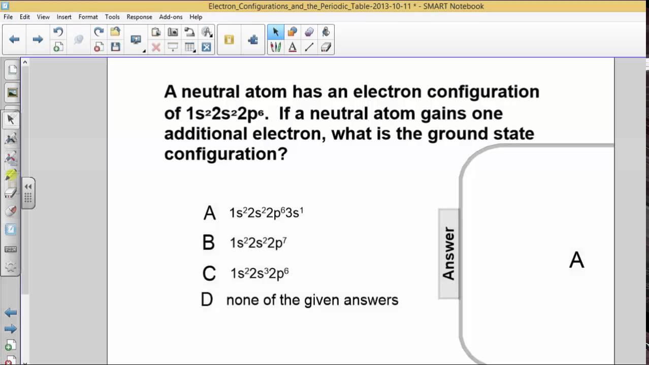 PSI Chemistry - Electron Configurations - Q39