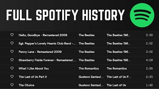 How to View Extended Spotify Listening History (8500+ Songs)